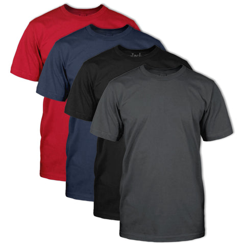 Double Dye T-Shirt 4 Pack:Chili Red,Navy,Onyx, Smoked Pear