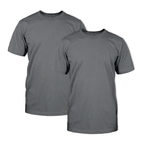 Double Dye T-Shirt 2 Pack: Smoked Pearl