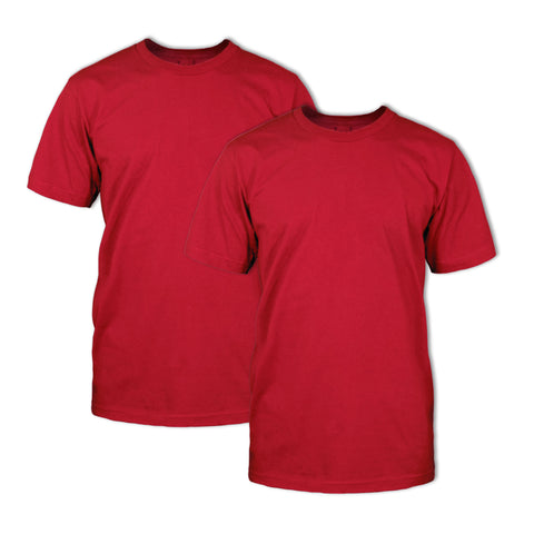 Double Dye T-Shirt 2 Pack: Chili Red