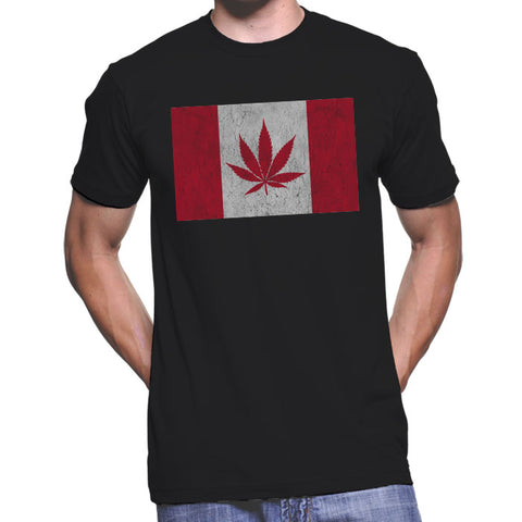 Canadian Flag With Leaf T-Shirt