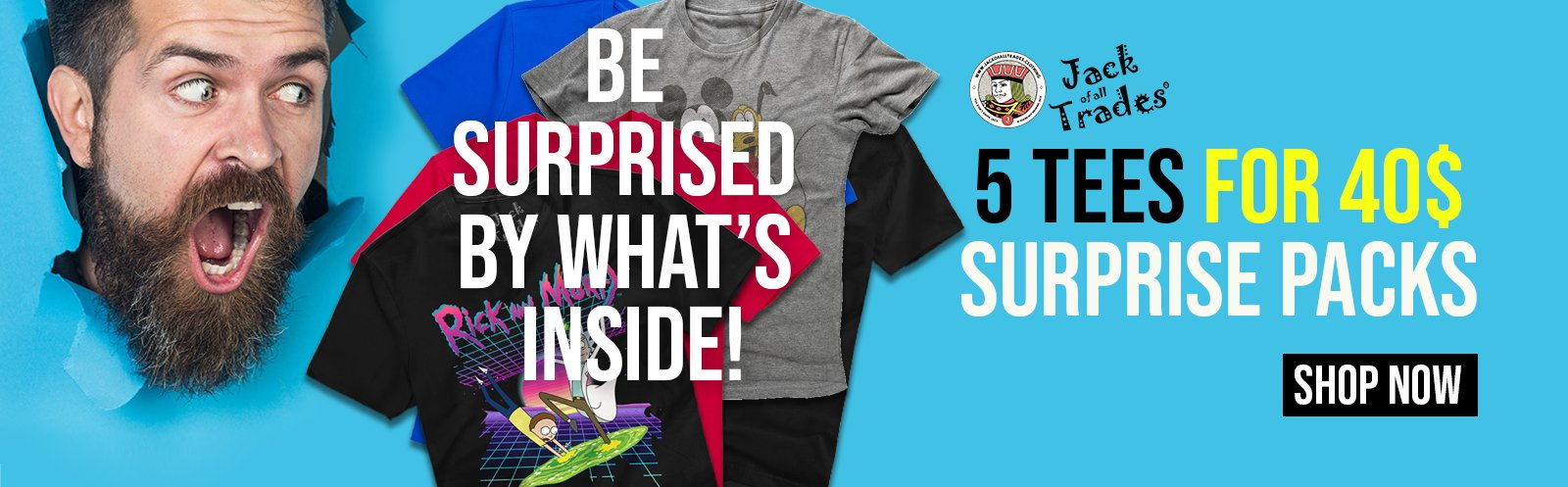 5 for 40 Surprise Pack Tees
