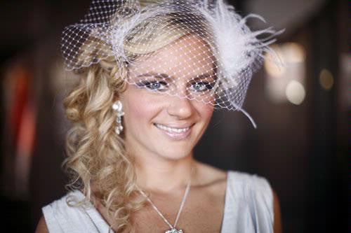 Fifi feather hairpiece