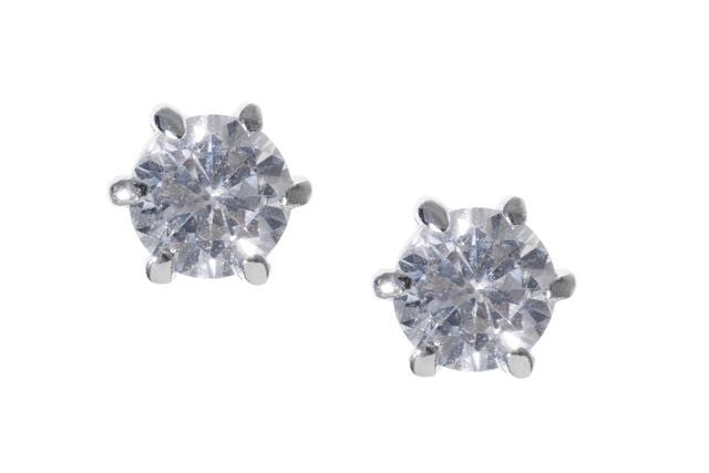 * 1 Carat Sparkle Stud Earrings