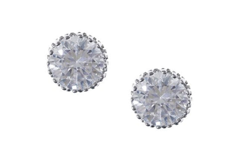 * 2 Carat Sparkle Stud Earrings