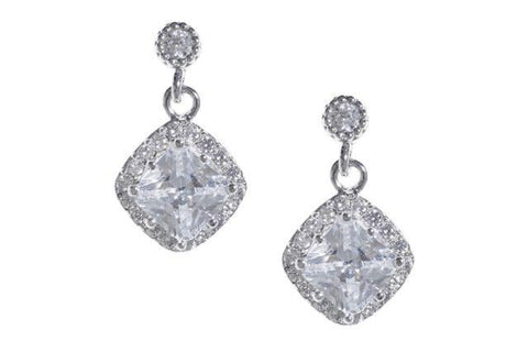 * Fleur Drop Sparkle Earrings