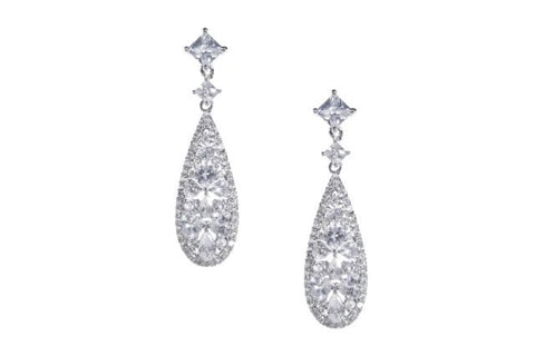 * Iris Sparkle Drop Earrings