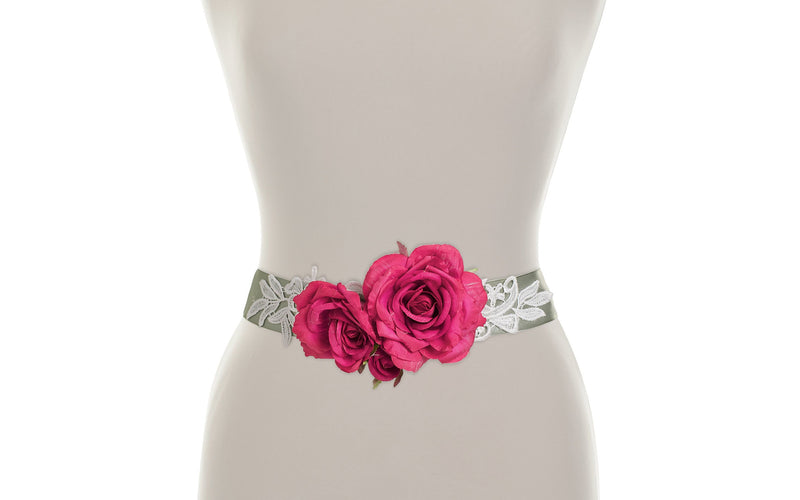 Rosa Flower Belt - As seen in OK magazine