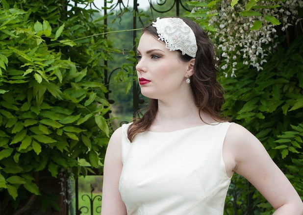 Alexander hairpiece & birdcage veil set