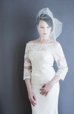 Longer length Tulle Birdcage Veil