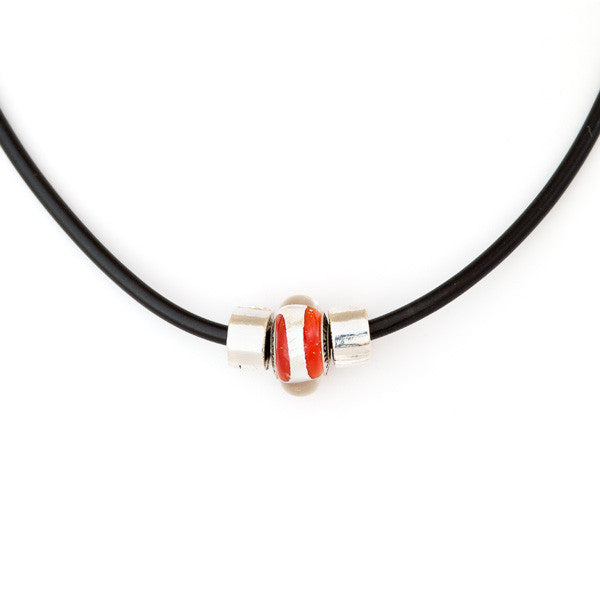 Champion bead on sporty necklace
