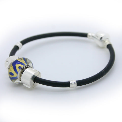 Delta Love Bead on a Sporty Bracelet