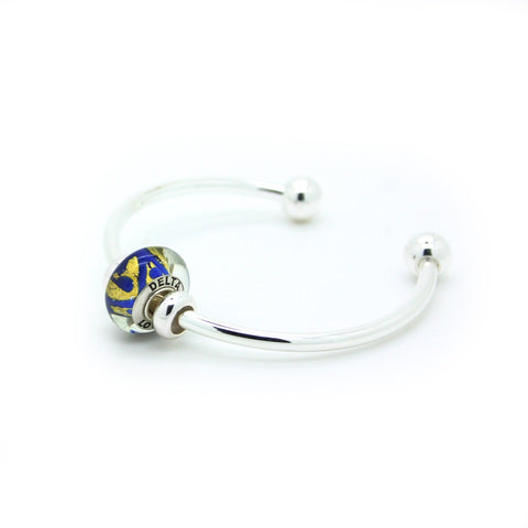 Delta Love Bead on a Bangle Bracelet