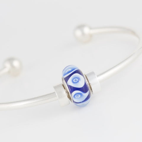 Franklin Pride bead on bangle bracelet