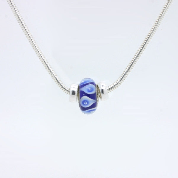 Franklin Pride bead on sterling silver necklace