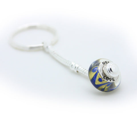 Delta Love Bead on a Keyring