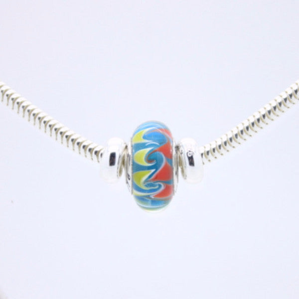 PMC 2016 bead on sterling silver necklace