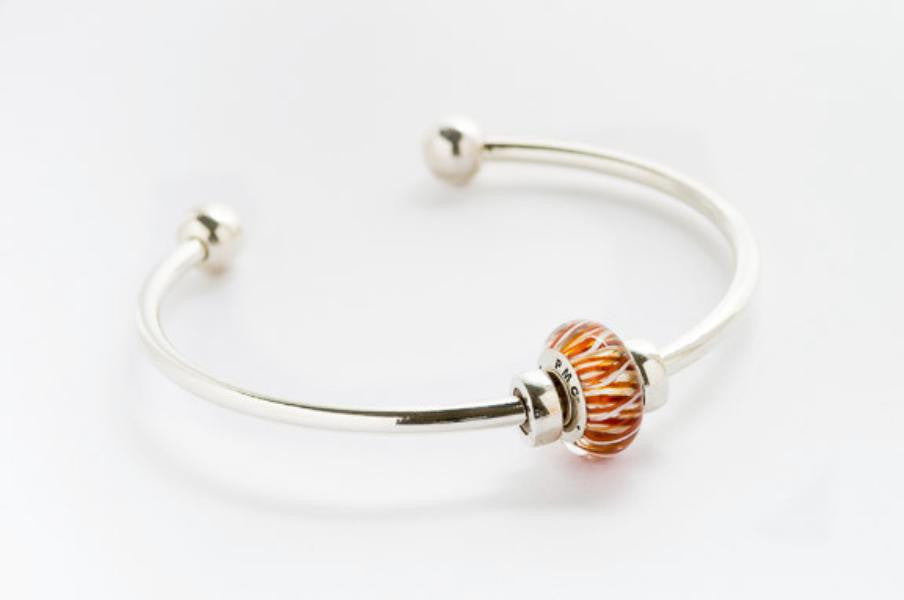 PMC 2013 bead on bangle bracelet