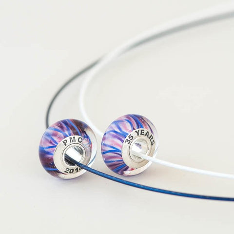 PMC 2014 bead on cable necklace