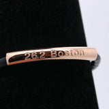 26.2 Boston engraved bracelet