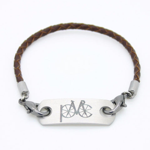 PMC2016 Sneaker Tag brown braided leather bracelet