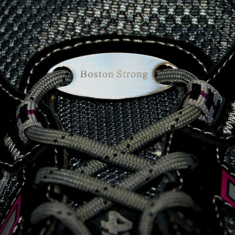 Boston Strong sneaker tag