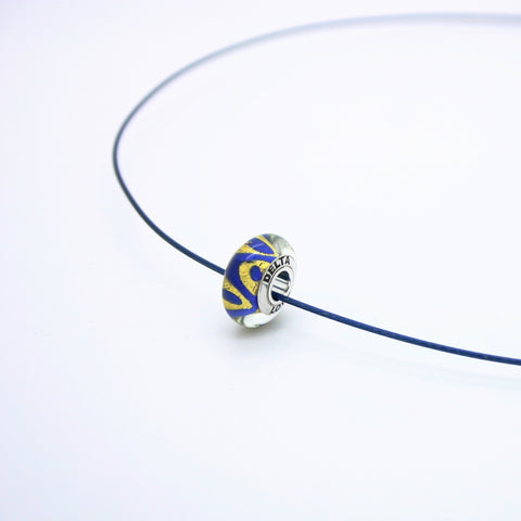 Tri Delta Love Bead on a Cable Necklace