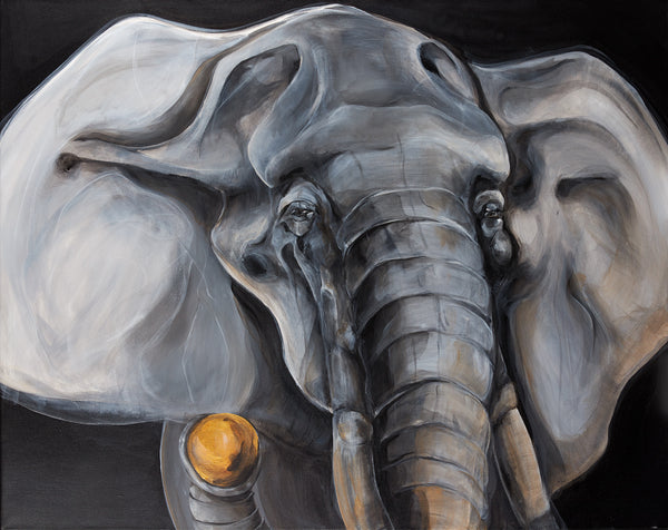 Art print of elephant by Anne Ditte.