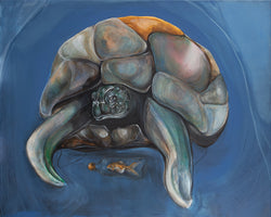 Art print of sea turtle by Anne Ditte.