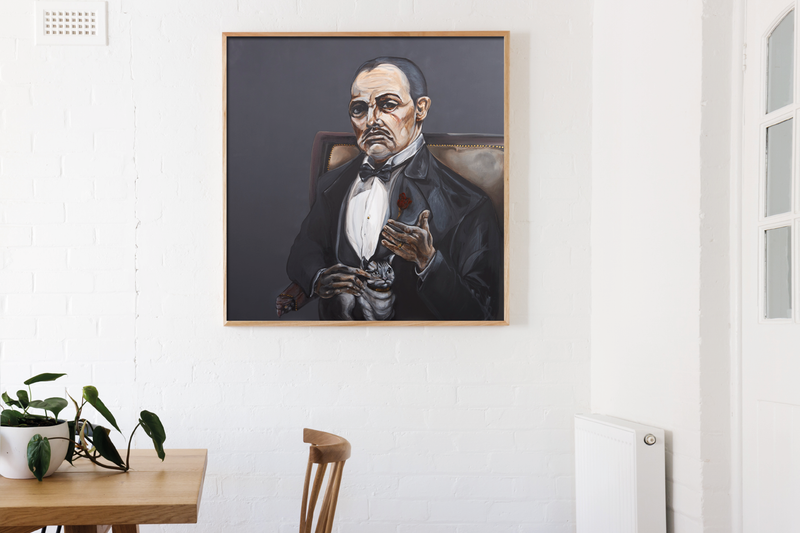 Art print of Godfather by Anne Ditte.