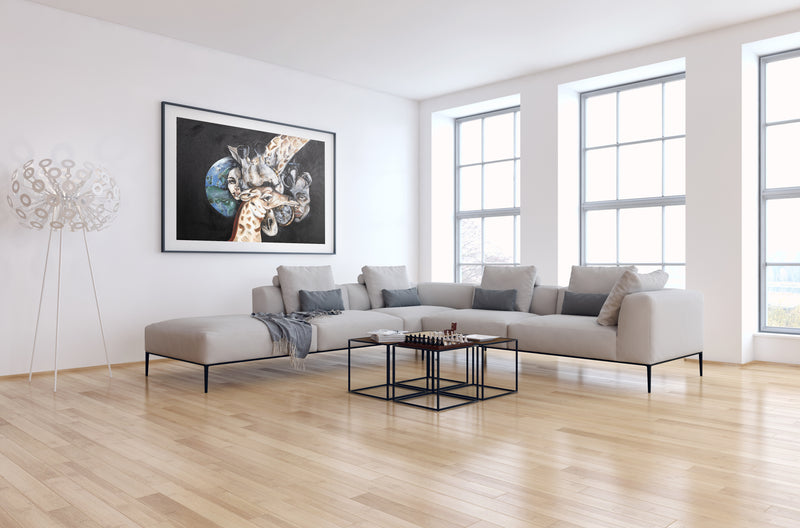 Art print of giraffe by Anne Ditte.