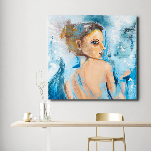 Abstract art print of a woman by Anne Ditte.