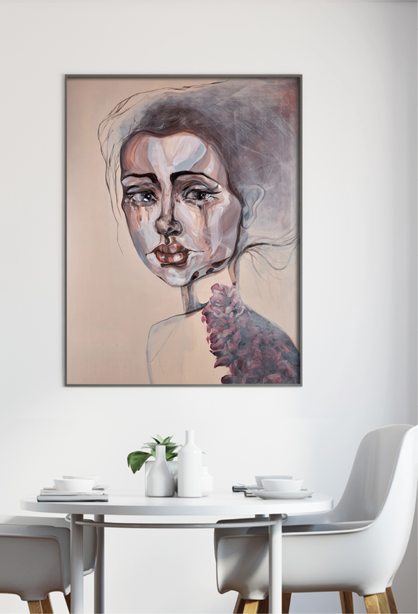 art print of a women by Anne Ditte.
