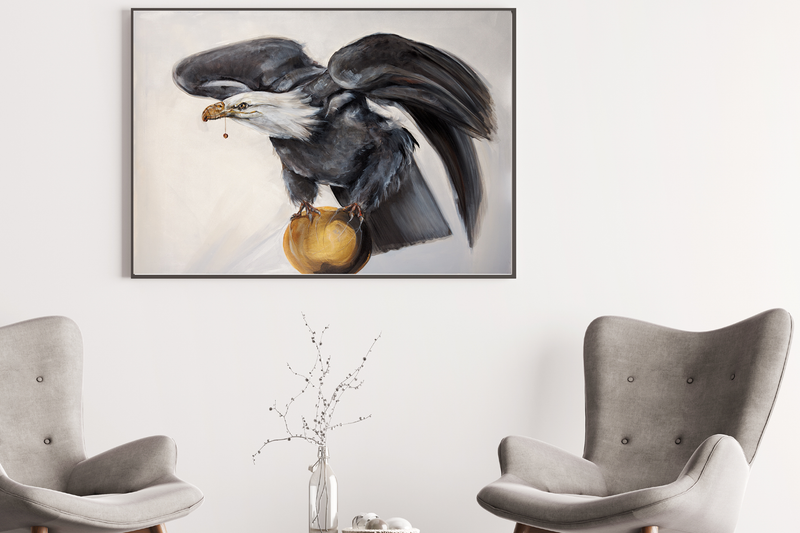 Art print of eagle by Anne Ditte