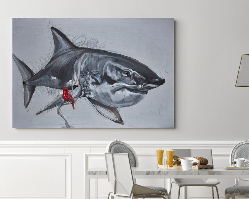 Art print of shark by Anne Ditte.