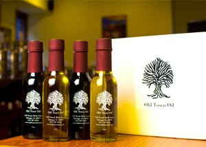 Old Town Oil Flavored EVOO Favorites 4 Bottle Sampler Gift Box