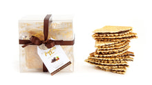 Load image into Gallery viewer, D'Oro Bites Box with ferratelle or pizzelle filled with chocolate and hazelnut spread