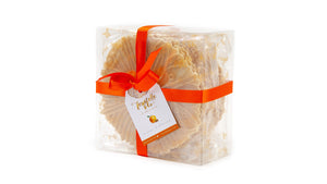 Ferratelle or pizzelle box of orange & almond flavour