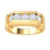 0.85 Ctw Majestic Real Wide Band With 5 Breathe Taking White Diamonds in IJ SI2 14 kt Gold