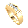 Majestic Real Wide Band With 5 Breathe Taking White Diamonds 0.85 Ct J SI2 and 10 kt Gold