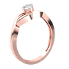 0.29 Ctw Breathe Taking White Diamond Solitare Ring In A Sea Of Beautiful Real in J SI2 10 kt Gold