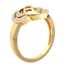 0.45 Ctw Exquisite Real Ring Swan Neck Centerpiece Surrounded By Beautiful White Diamonds in GH I1 14 kt Gold