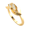 Magnificently Crafted Real Ring With 2 Rows Of Sparkling White Diamonds 0.10 Ct JK I1 and 10 kt Gold
