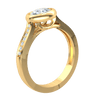 0.44 Ctw Sparkling White Diamond Solitare Inlaid In Real With Beautiful Diamond Accented Band in IJ SI2 14 kt Gold