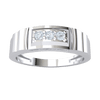 0.10 Ctw Gorgeous 3 Stone White Diamond Set In Real With Beautiful Band Detailing in GH I1-I2 .925 Sterling Silver