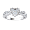 0.34 Ctw Absolutely Gorgeous Heart Shaped Real Ring With Sparkling White Diamonds Throughout in JK I1 10 kt Gold