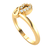 0.77 Ctw Gorgeous Reflective Teardrop Shape Real Ring With A Beautiful Display Of White Diamonds in JK I1 10 kt Gold