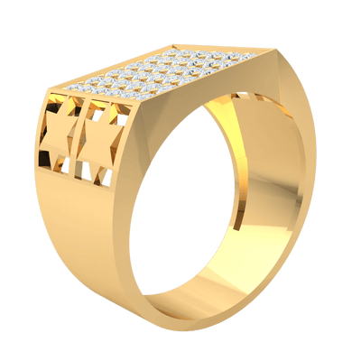 1.19 Ctw Absolutely Stunning Real Wide Band Ring With A Detailed Band And Rows Of Beautiful White Diamonds in IJ SI2 14 kt Gold