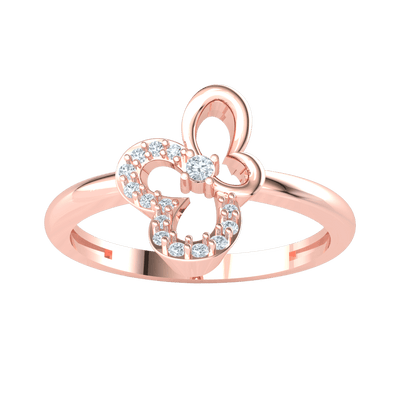 0.09 Ctw This Timeless Classic Real Ring Has An Artistic Centerpiece With Sparkling White Diamonds in JK I1 10 kt Gold