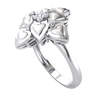 0.09 Ctw Beautiful Ring Arrangement of Heart Shaped Real And Magnificent White Diamonds in GH I1-I2 10 kt Gold