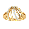 0.39 Ctw Breathe Taking Real Ring With Rows Of And Sparkling White Diamonds in GH I1-I2 10 kt Gold